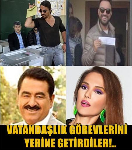 TÜRKİYE'NİN EN ÜNLÜ İSİMLERİ OYLARINI KULLANDI!.