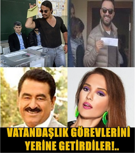 TÜRKİYE'NİN EN ÜNLÜ İSİMLERİ OYLARINI KULLANDI!..