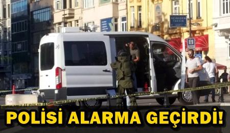 TAKSİM'DE ŞÜPHELİ PAKET!